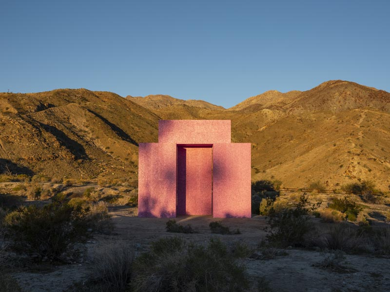 "View of the Desert X installation, ""Dive-in"" (2019) by Superflex"