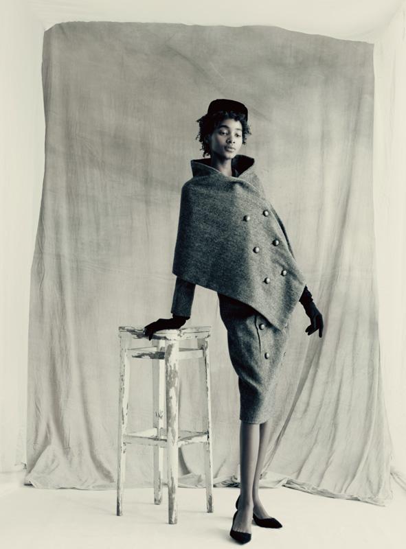 Tailleur Voyageur Collection Haute Couture automne-hiver 1955 Ligne Y par Christian Dior