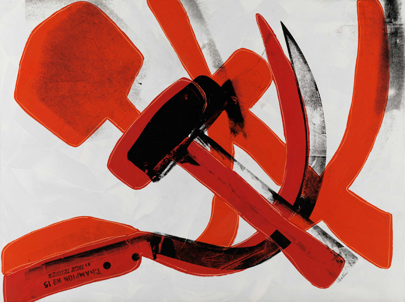 "Andy Warhol, ""Hammer and Sickle"" (1976). Museum Brandhorst © 2020 The Andy Warhol Foundation for the Visual Arts, Inc. / Licensed by DACS, London."