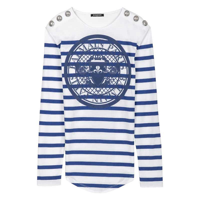 Tee-shirt imprimé coin en gomme bleu