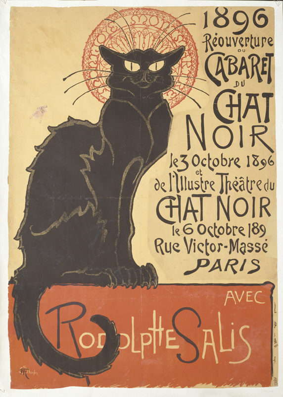 Théophile-Alexandre Steinlen Réouverture du cabaret du Chat Noir (Reopening of the Chat Noir Cabaret), 1896 Victoria and Albert Museum, London © Victoria and Albert Museum, London