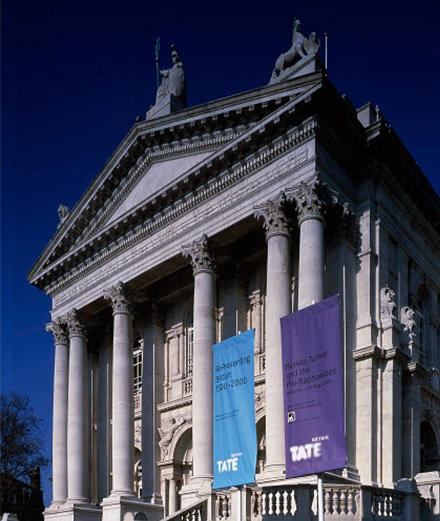 Tate Britain, Exterior of Millbank entrance. 1990's © Tate