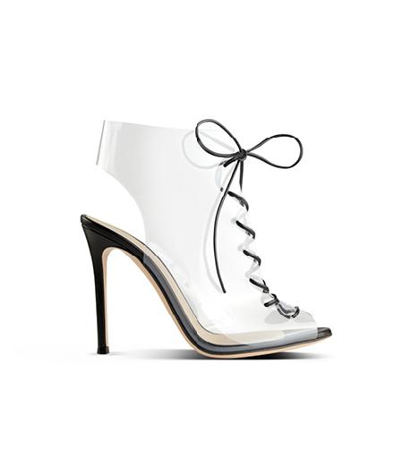 Chaussure en plexi, GIANVITO ROSSI