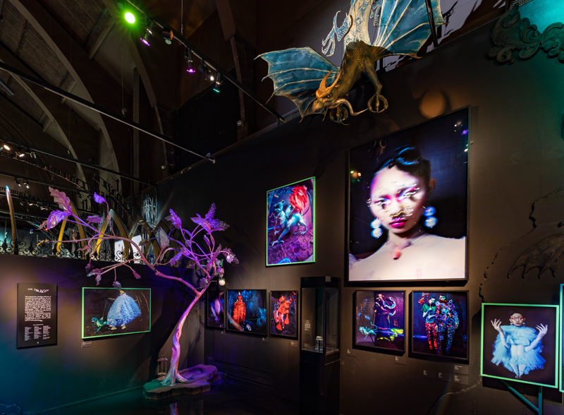 """V&A, """"Tim Walker : Wonderful Things"""" Exhibition. Installation view : 'Lil' Dragon' Section 2 © Victoria and Albert Museum, London"""