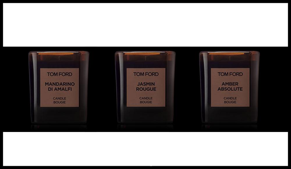 Cinq nouvelles fragrances déclinées des parfums de la maison rejoignent la collection de bougies du créateur, parmi lesquelles la très jolie Mandarino Di Amalfi. TOM FORD PRIVATE BLEND, 109 euros la bougie.