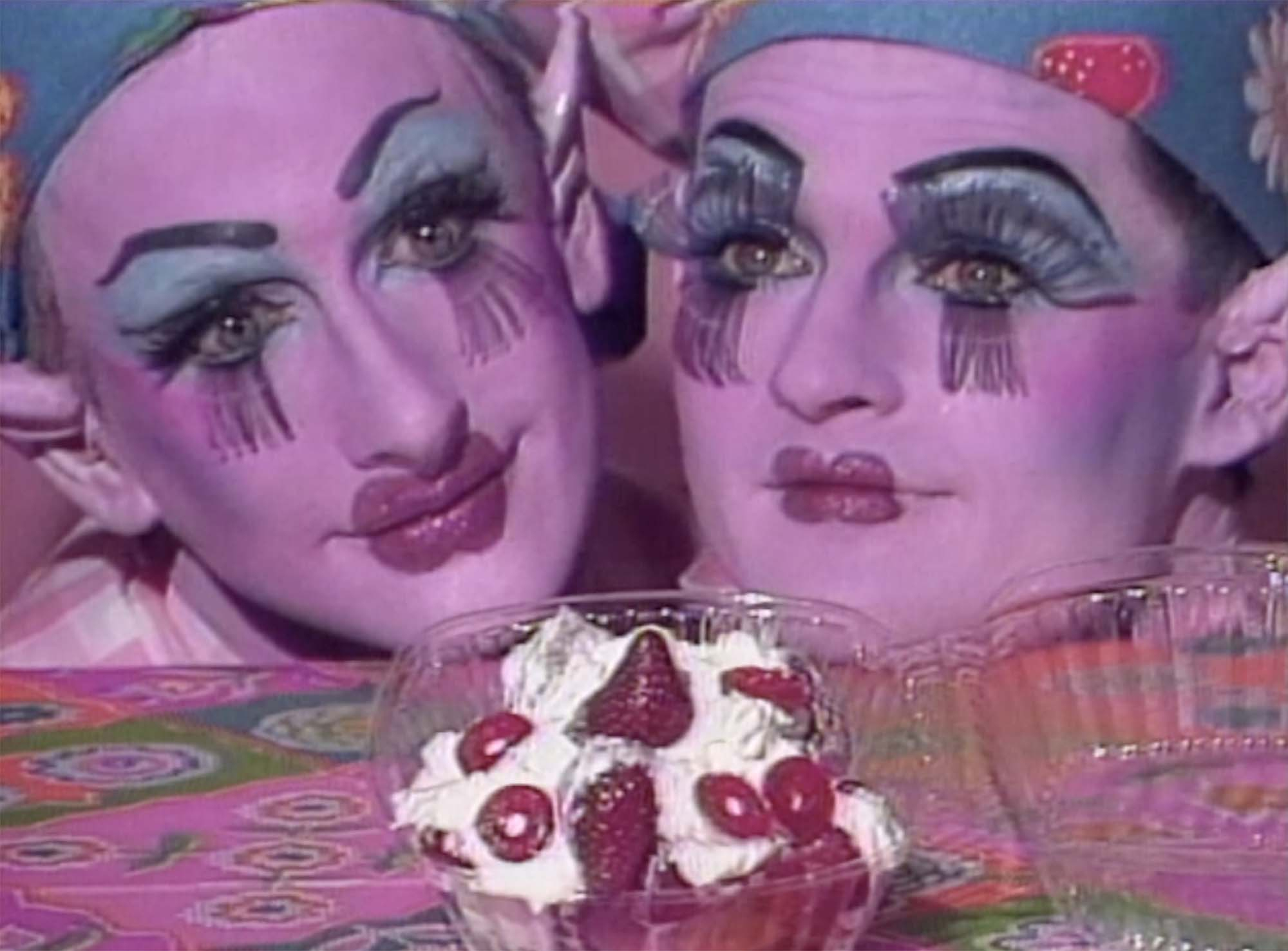 """Tom Rubnitz, """"Strawberry Short-Cut"""" (1989). Image copyright of the artist, courtesy of Video Data Bank, www.vdb.org, School of the Art Institute of Chicago"""