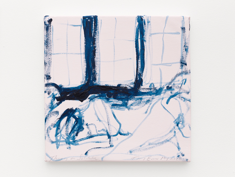 "Tracey Emin, ""Thriving on Solitude"" (2020). Acrylic on canvas, 30.7 x 30.7 x 2.2 cm © Tracey Emin. All rights reserved, DACS 2020. © White Cube (Theo Christelis)"