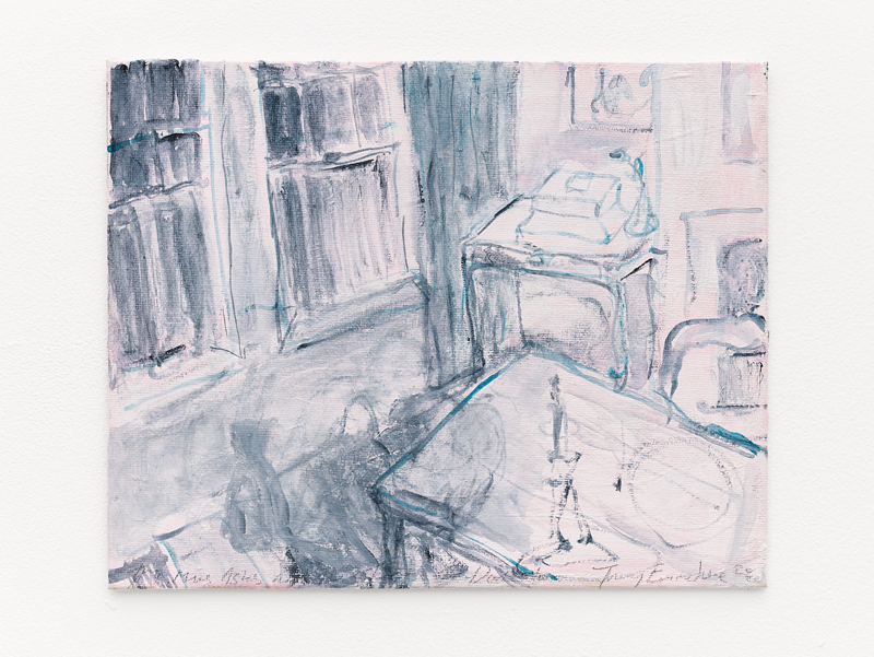 "Tracey Emin, ""My Mums Ashes and The Ghost of Docket"" (2020). Acrylic on canvas, 20.3 x 25.4 x 0.5 cm © Tracey Emin. All rights reserved, DACS 2020. © White Cube (Theo Christelis)"
