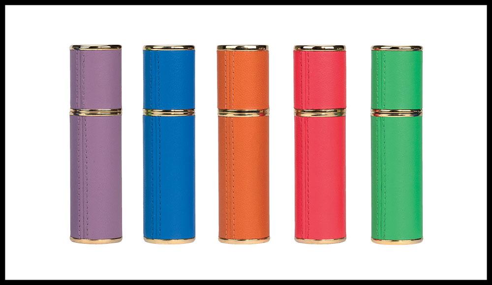 Vaporisateur de Voyage, VALMONT. 195 euros avec la recharge de 10 ml. A chaque fragrance son étui de couleur.