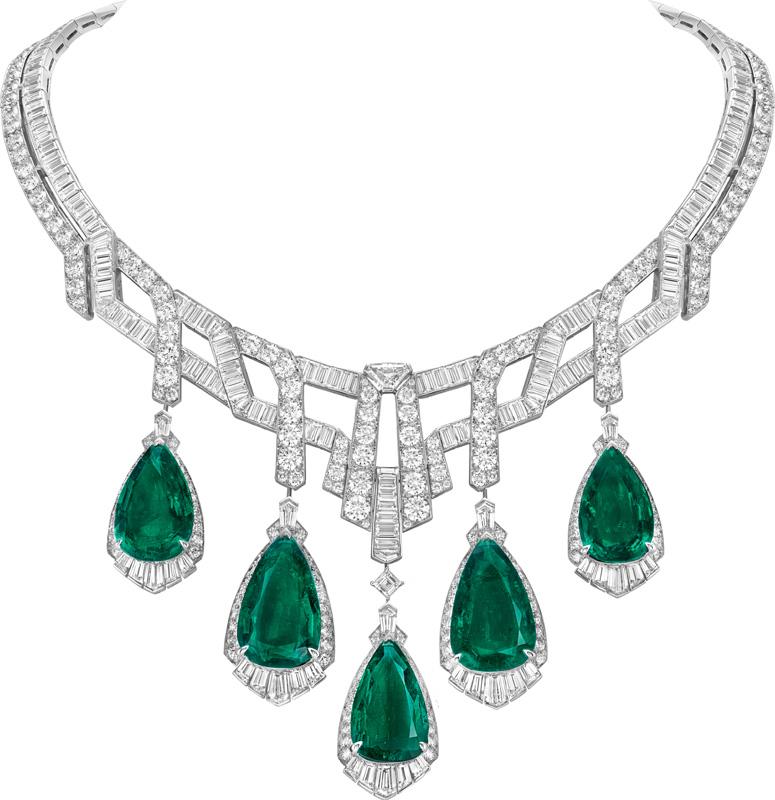 Le collier Merveille d'émeraudes