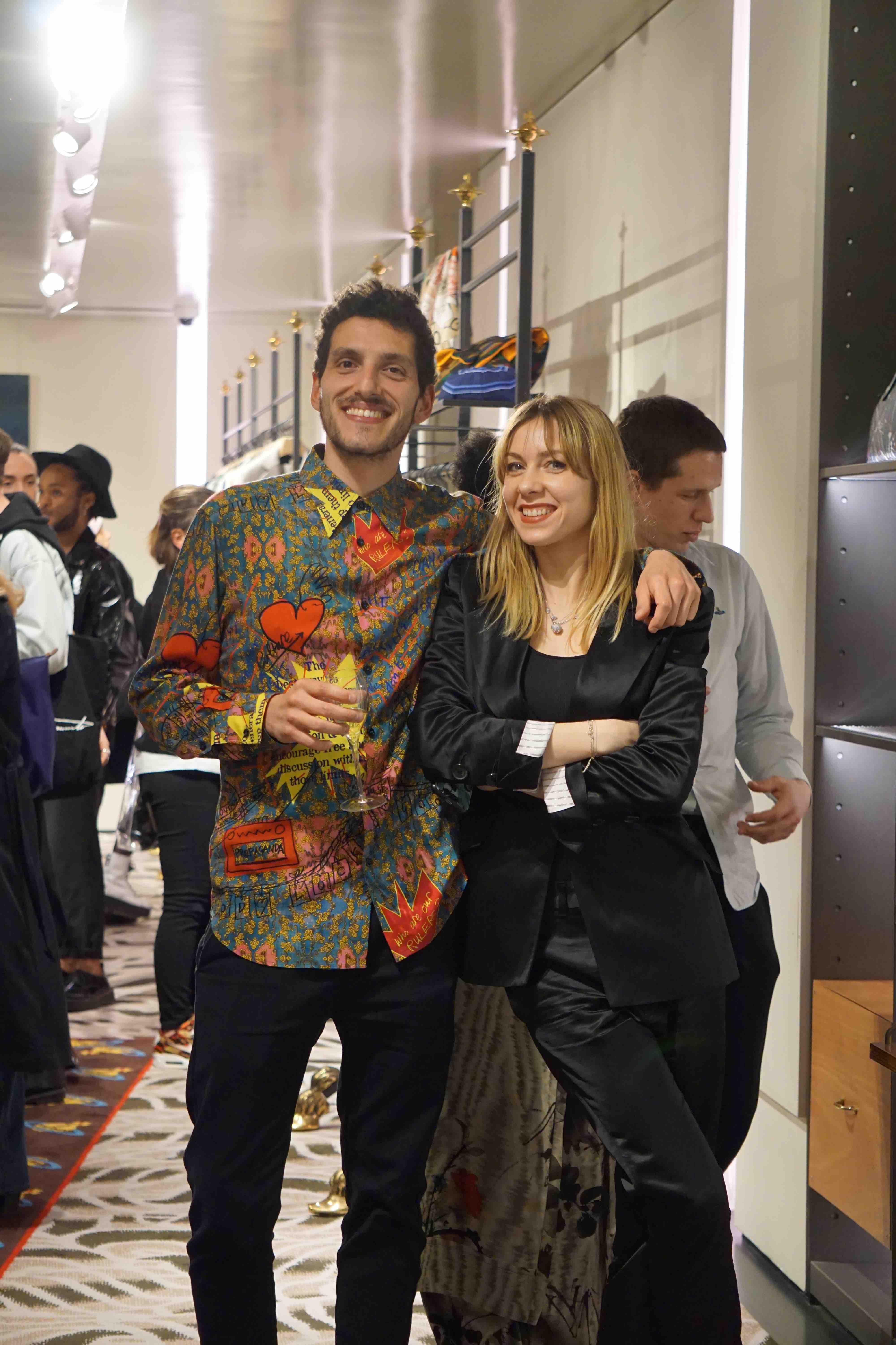 Le vernissage à la boutique Vivienne Westwood, 175 rue Saint-Honoré.