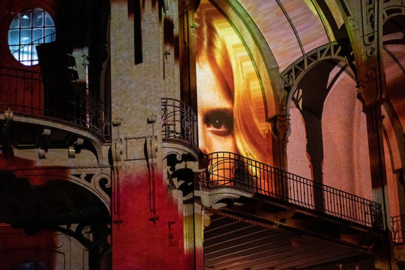 """vue de """"(E)motion"""" - Wim Wenders (4), Nef du Grand Palais, scénographie : Athem, © Rmn - Grand Palais / Nicolas Krief, Paris 2019"""