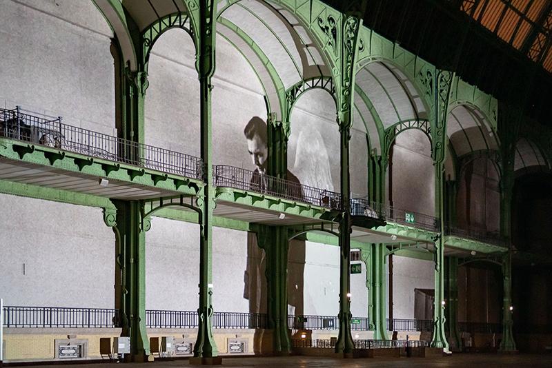 """vue de """"(E)motion"""" - Wim Wenders (5), Nef du Grand Palais, scénographie : Athem, © Rmn - Grand Palais / Nicolas Krief, Paris 2019"""