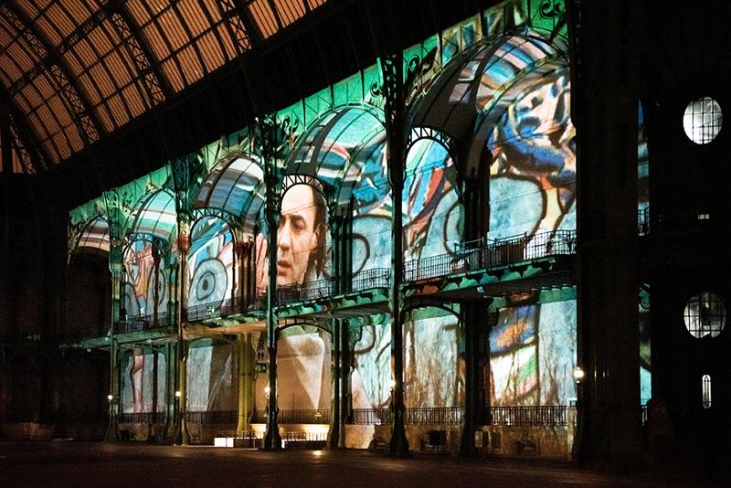 """vue de """"(E)motion"""" - Wim Wenders (7), Nef du Grand Palais, scénographie : Athem, © Rmn - Grand Palais / Nicolas Krief, Paris 2019"""