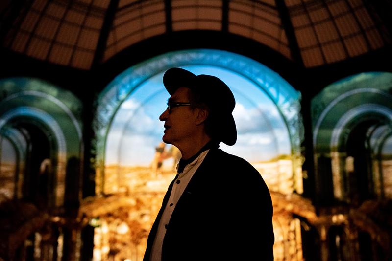 """vue de """"(E)motion"""" - Wim Wenders (8), Nef du Grand Palais, scénographie : Athem, © Rmn - Grand Palais / Nicolas Krief, Paris 2019"""