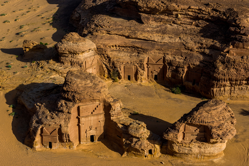 Tombes nabatéennes, AlUla © Yann Arthus-Bertrand, Hope Production