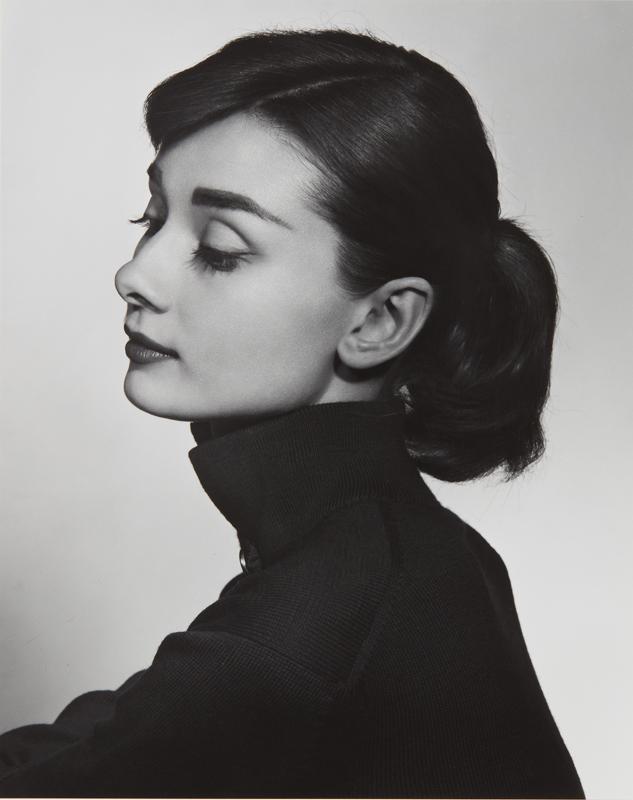 "Yousuf Karsh ""Audrey Hepburn"" 1956 Gelatin silver print, printed later. 9 1/4 x 7 1/2 in. (23.5 x 19.1 cm)"
