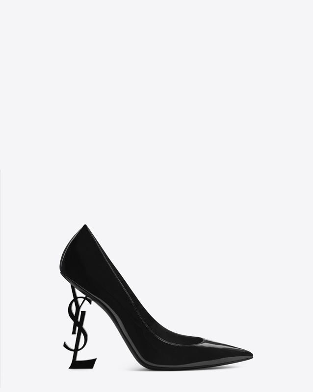 Escarpins Opyum en cuir vernis noir, SAINT LAURENT PAR ANTHONY VACCARELLO.
