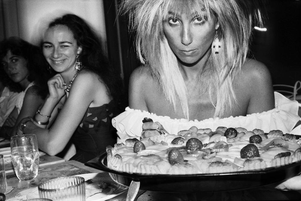 Alexia Niedzielski et Cher, Antibes, 1985