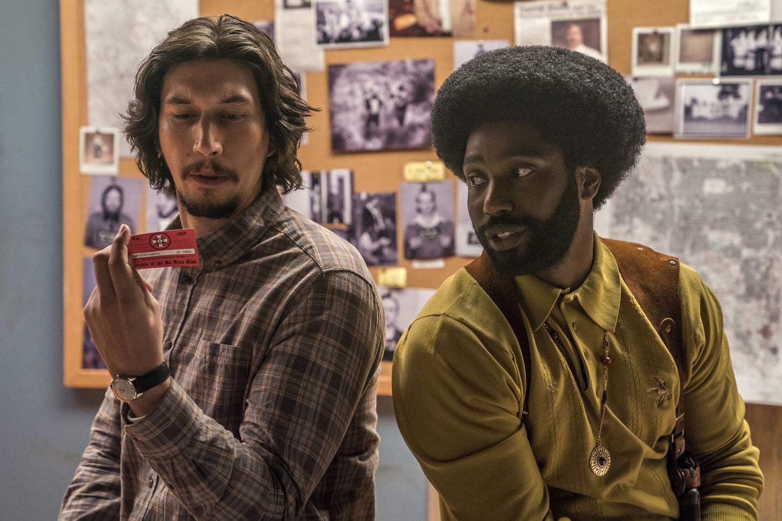 "Adam Driver et John David Washington dans ""BlacKkKlansman"" de Spike Lee."