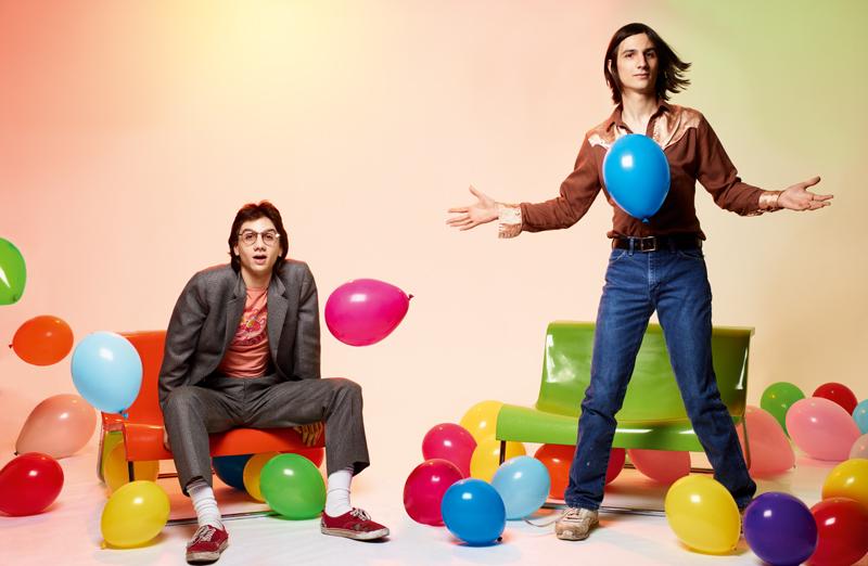 Michael (à gauche) et Brian (à droite) D'Addario du groupe The Lemon Twigs