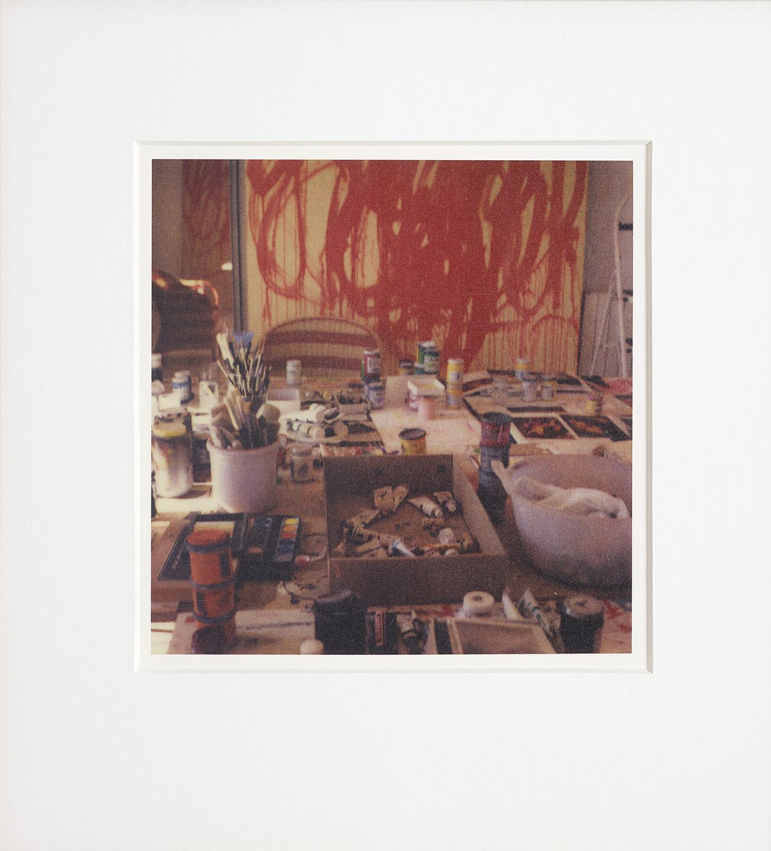 "Cy Twombly, 2005. ""Studio Gaeta"" (with Bacchus Painting). © Fondazione Nicola Del Roscio. Courtesy archives Fondazione Nicola Del Roscio."