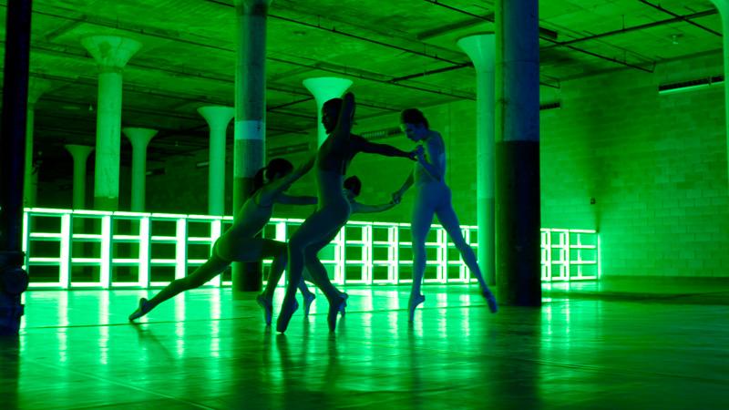 Cecilia Bengolea. Dia Art Foundation Beacon, piece: Dublove, Cecilia Bengolea, François Chaignaud, Erika Miyauchi, Alex Mugler. Mai 2017