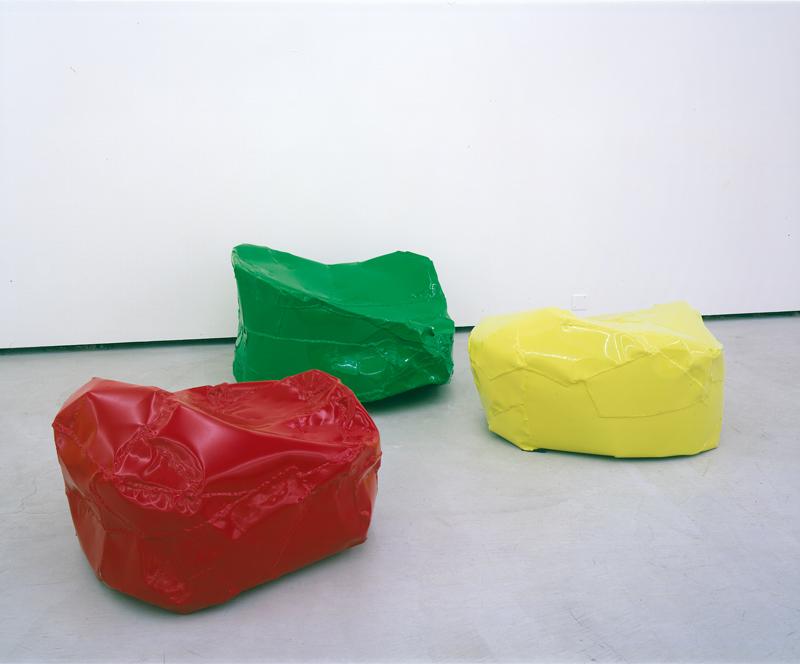 """Knotzen"" (2002). Aluminium verni. Dimensions variables. Collection Maja Hoffmann, LUMA Foundation."