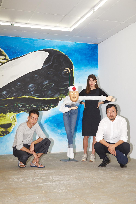 Éric Kim, Madeleine Paré et Naoki Sutter-Shudo de l'espace Bel Ami.