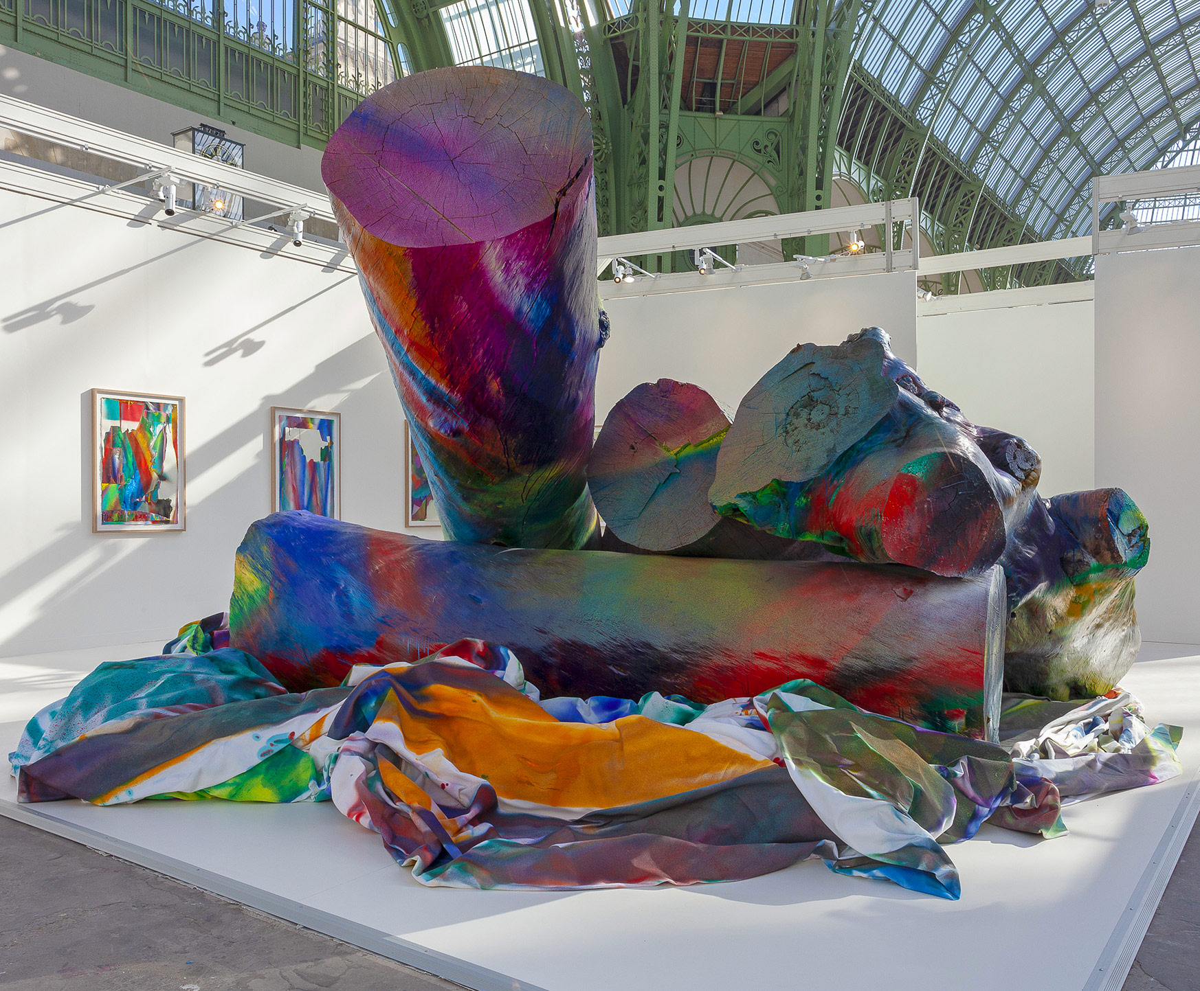 Katharina Gross exhibition view at Grand Palais, on the Gagosian stand.