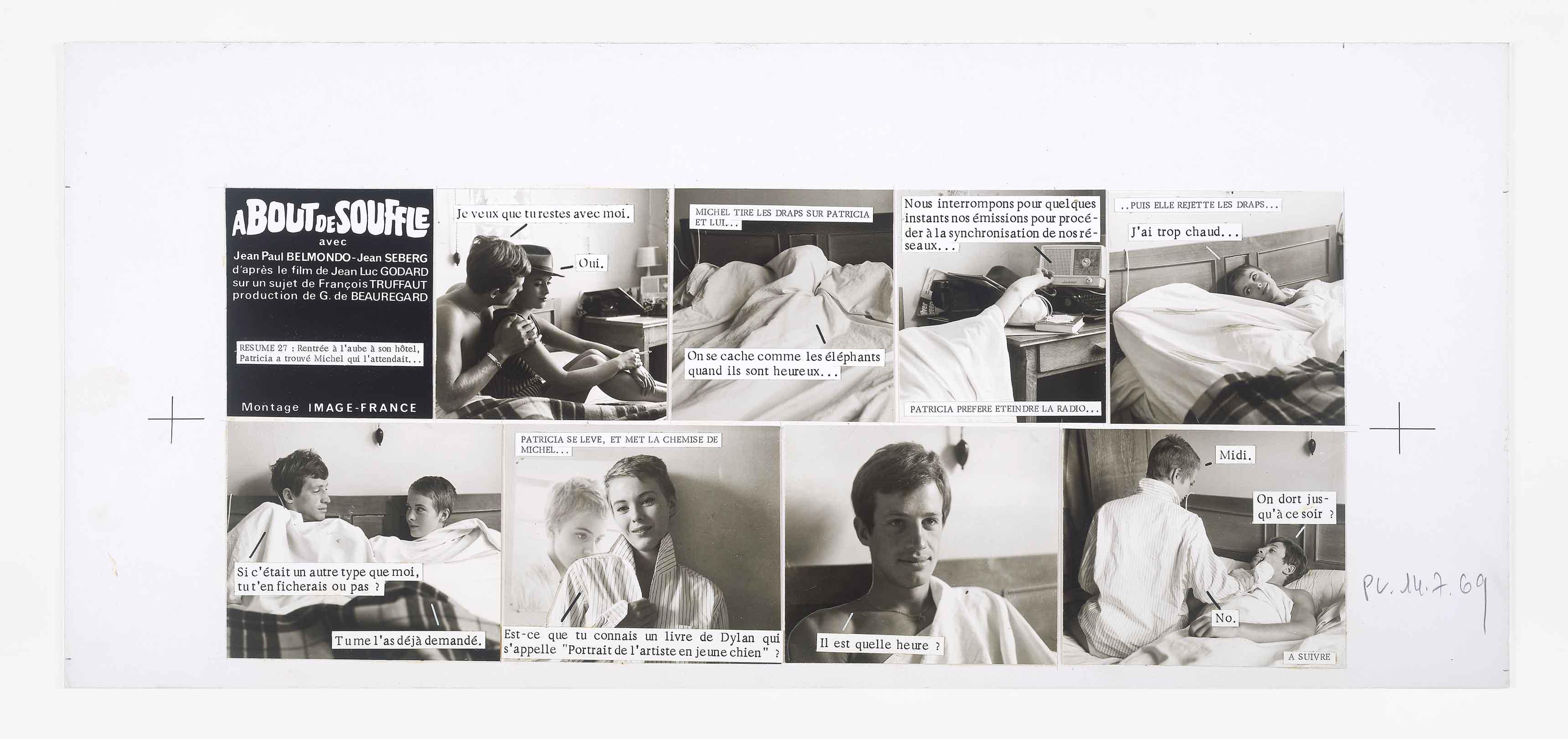 Cine-roman, À bout de souffle, Raymond Cauchetier. Mucem - Yves Inchierman.