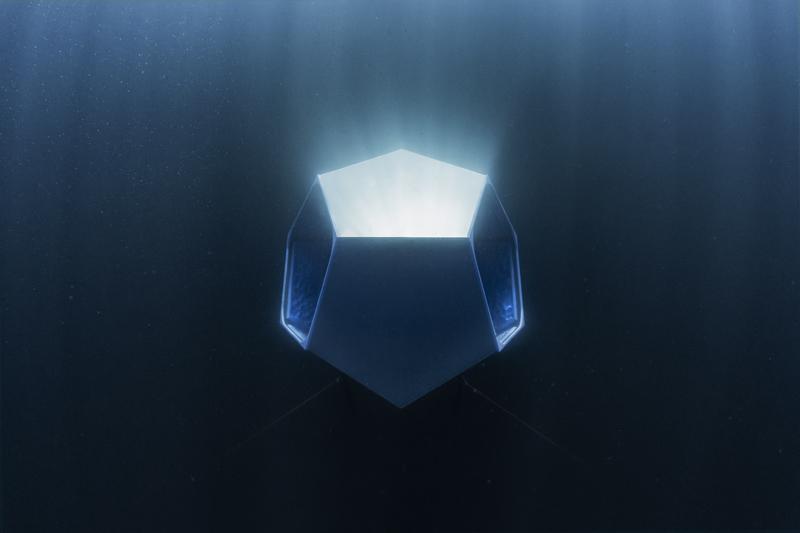 """Underwater Pavilions"" (2016) de Doug Aitken, vue d'installation, Avalon, Californie."
