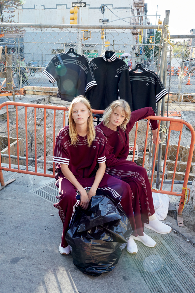 Lexi Boling and Hanne Gaby Odiele wearing Adidas Originals by Alexander Wang, photographed by Juergen Teller.