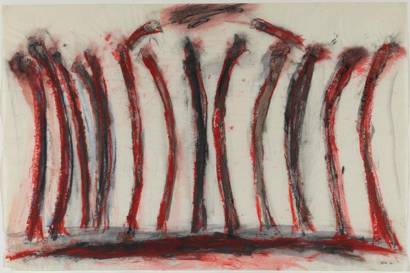 "Nancy Spero, ""Victims (The War)"" (1967) © Philippe Migeat - Centre Pompidou, MNAM-CCI /Dist. RMN-GP © Adagp, Paris"