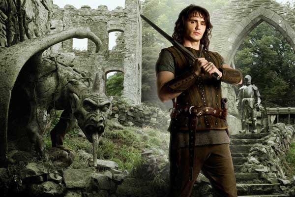 """James Franco dans la peau de Tristan, dans """"Tristan et Yseult"""" (2006) de Kevin Reynolds."""