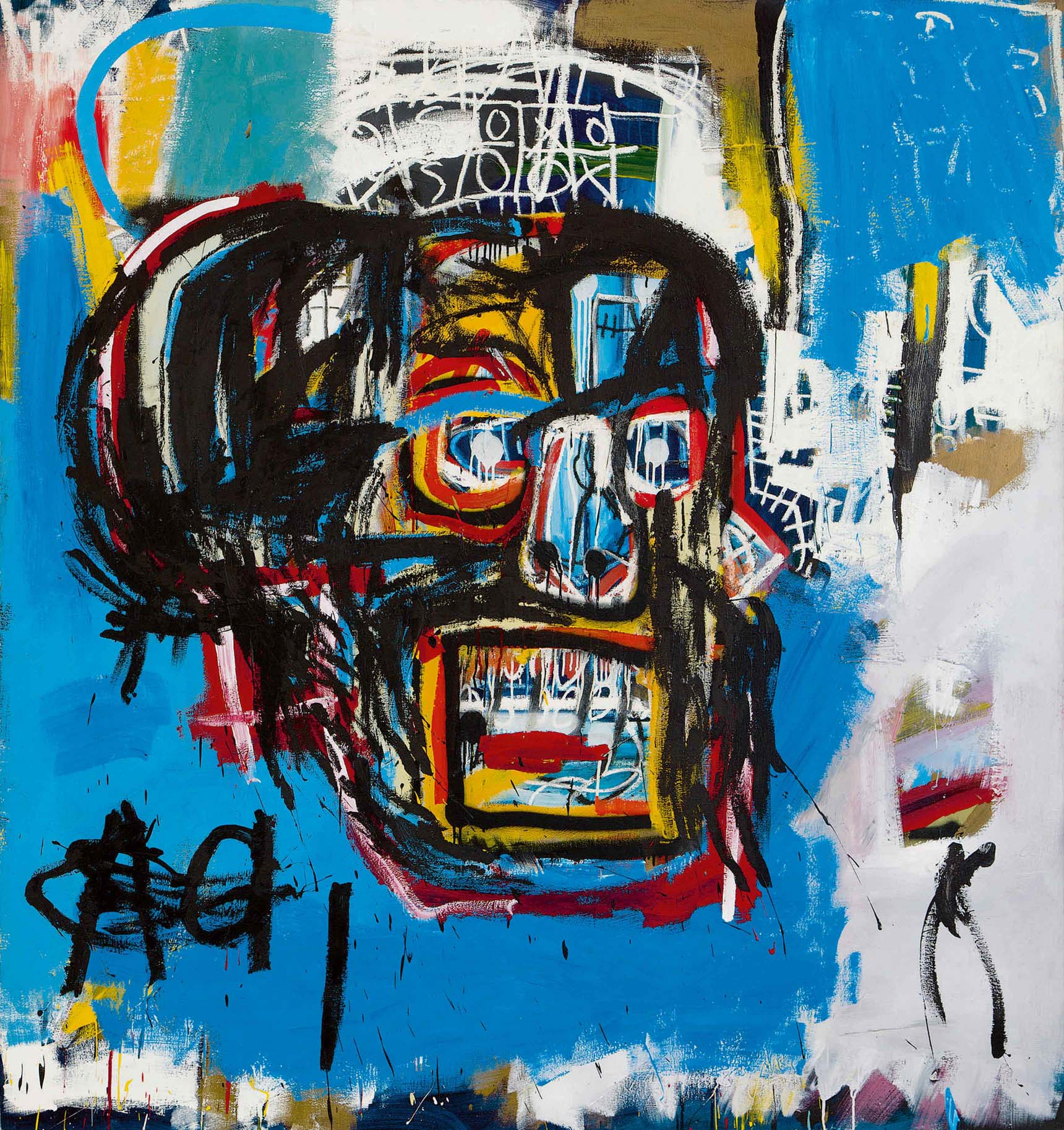 Untitled (1982), made by Jean-Michel Basquiat. Canvas sold by auction for 110.5 millions of dollars.