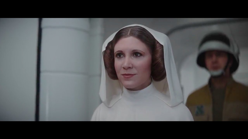 Extrait de l'Episode IX de Star Wars avec la version virtuelle de Carrie Fisher.