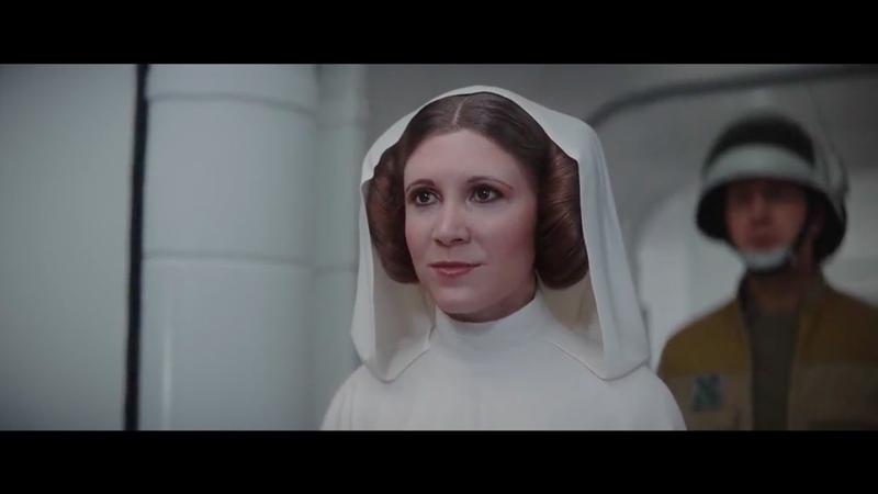 Extrait de l'Episode IX de Star Wars avec la version virtuelle de Carrie Fisher.