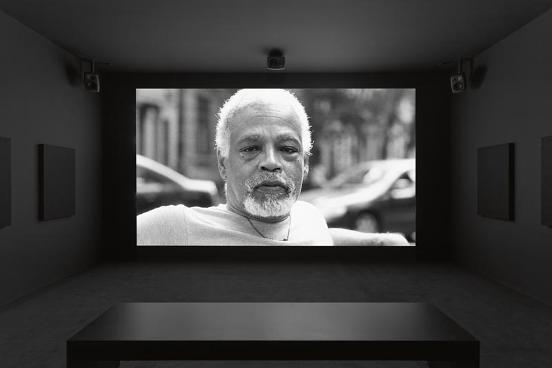 "Adam Pendleton's video installation ""Ishmael in the Garden: A Portrait of Ishmael Houston-Jones"" (2018). Copyright Adam Pendleton"