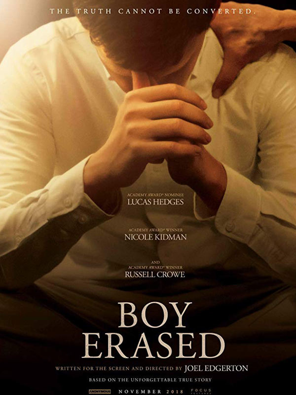 Poster for the film Boy Erased.