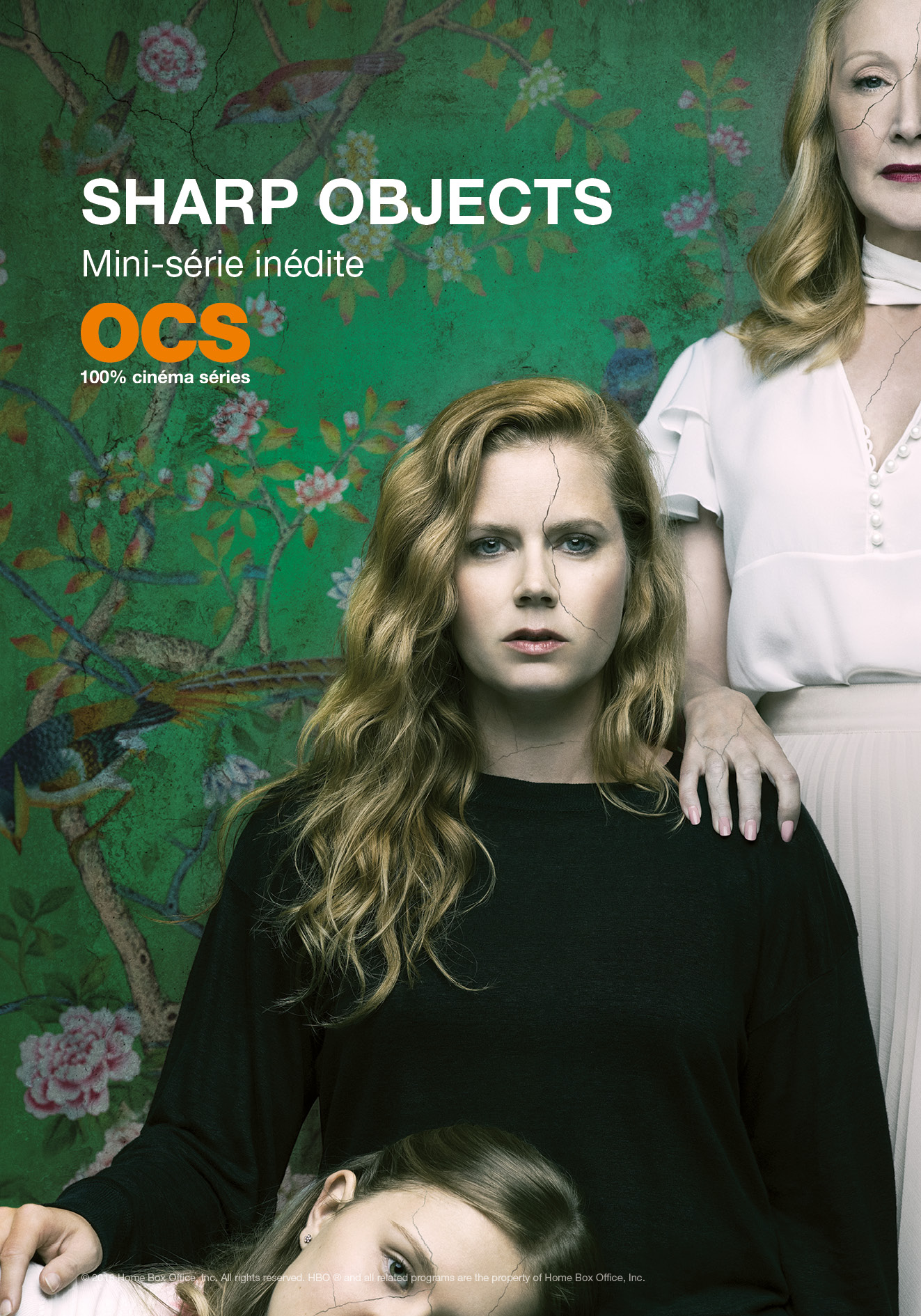 "L'affiche de la série ""Sharp Objects"" © 2018 Home Box Office, Inc. All rights reserved. HBO ® and all related programs are the property of Home Box Office, Inc."