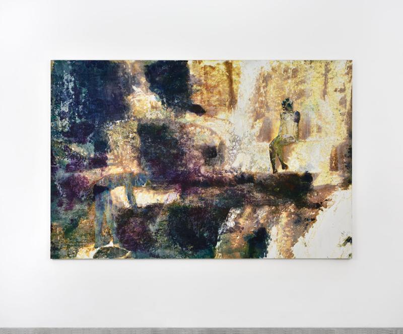 """Alexandre Lenoir, """"Dominique"""" (2020). Acrylic and oil on canvas, 176x267cm"""