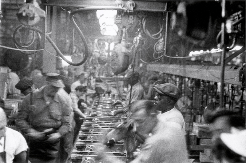 """Assembly Line, Detroit"", Robert Frank."