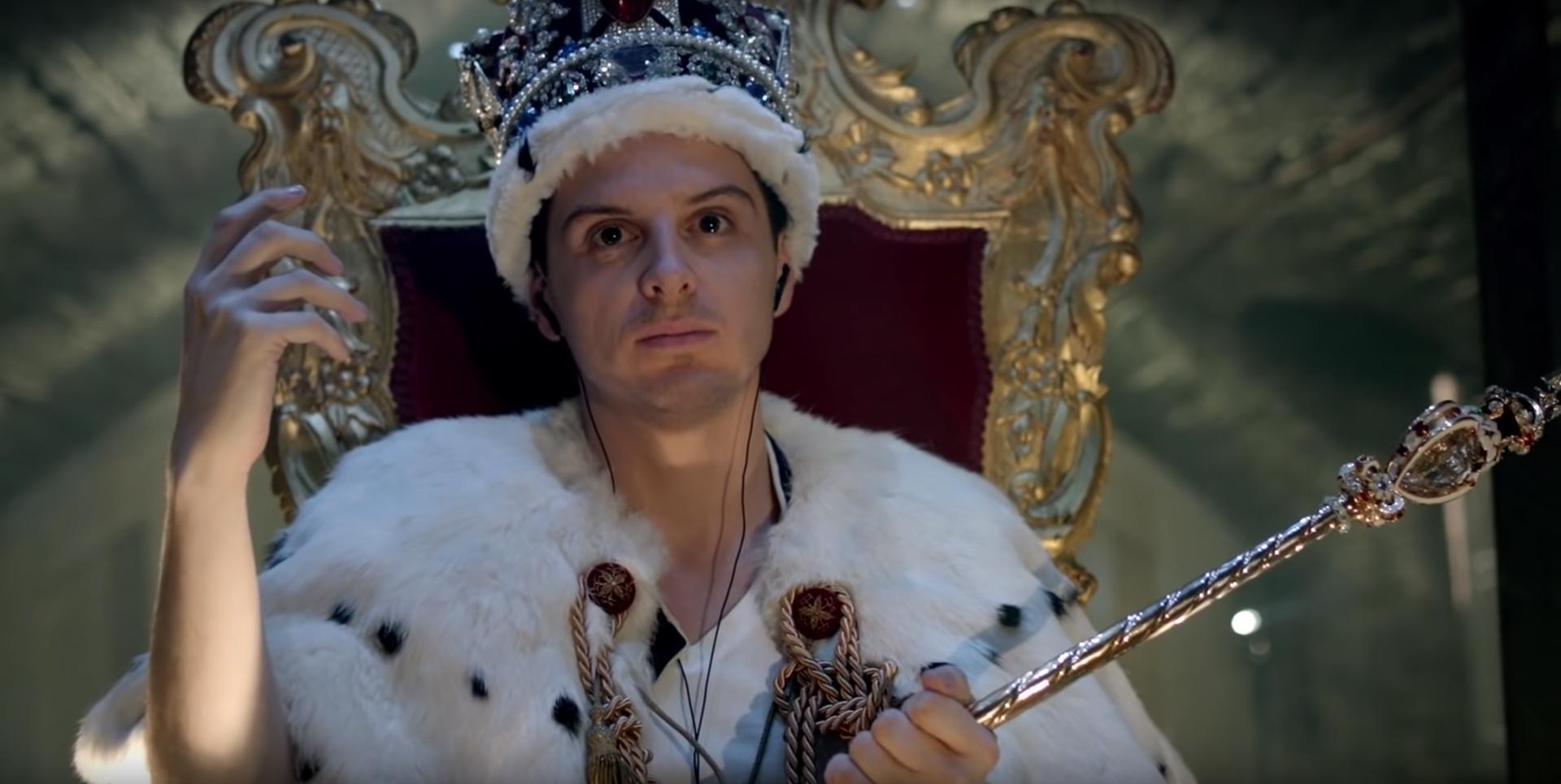"""Andrew Scott dans """"La Chute du Reichenbach"""", saison 2, épisode 3 de la série """"Sherlock""""."""