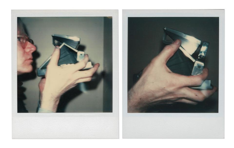 """Andy Warhol, """" Self-Portrait"""" (1973), deux impressions Polaroid uniques. Photo courtesy of Christie's Images LTD."""