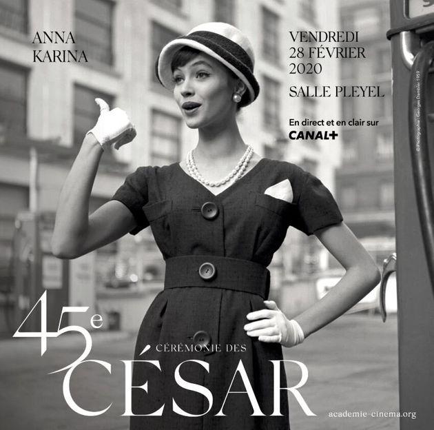 Affiche officielle de la 45è cérémonie des César.