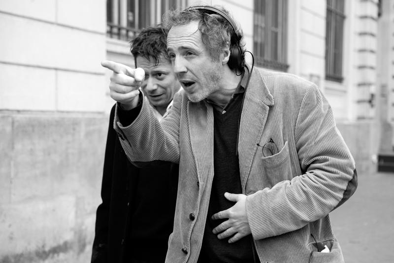 Arnaud Desplechin sur le tournage d'Un Conte de Noël.