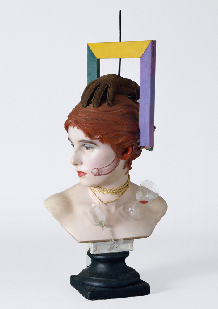 """Wilhelm Freddie, """"Sex-paralysappeal"""", Plaster and painted wood, glass, rope, glove, 1936 (copy 1961). © Photo Moderna Museet Stockholm."""