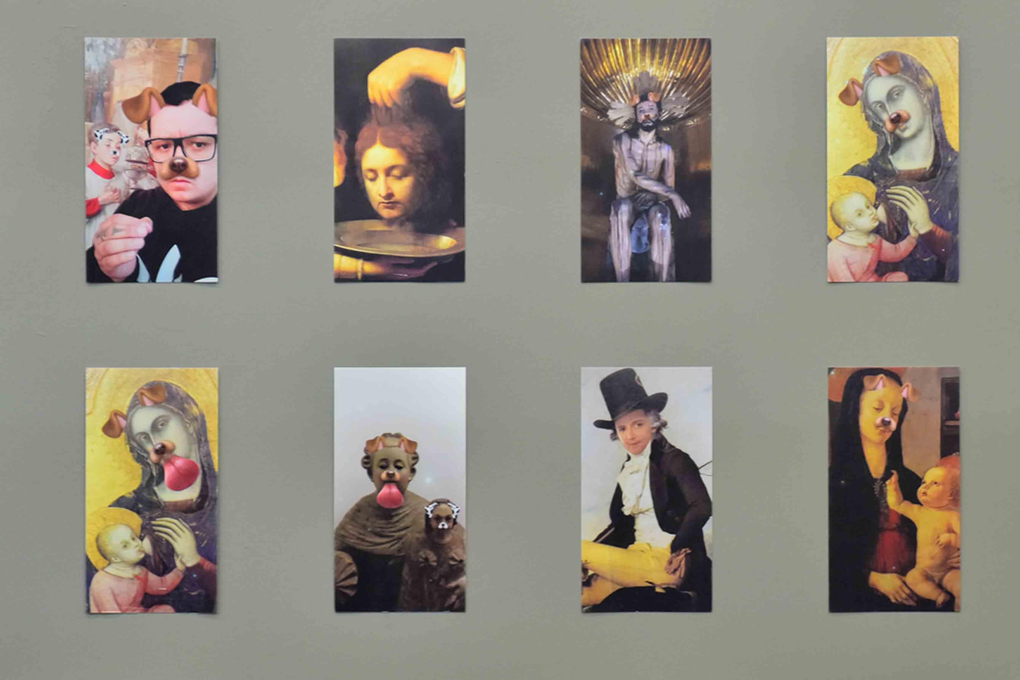 L'installation El fin Justifica los Memes de Francisco Toquica, section Artecámara de la foire ArtBo 2017.