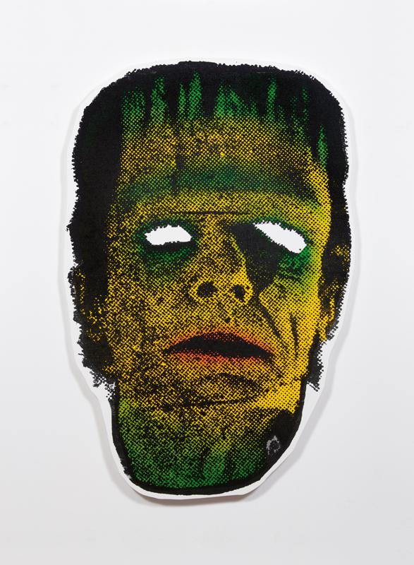 À droite : Freak (2018). Acrylique sur toile sur panneau en bois. 185,4 x 122,6 x 3,2 cm. © Jeff McLane. Courtesy of David Kordansky Gallery, Los Angeles